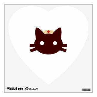 Nurse Kitty Wall Sticker