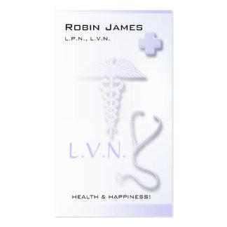 Nurse L.V.N. Custom Lavender Blue Business Card