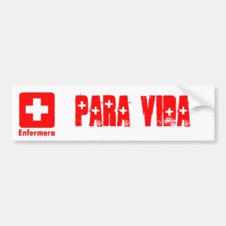 Nurse-Latino Car Bumper Sticker