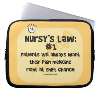 Nurse Law No 1 - Pain Medicine Laptop Sleeve