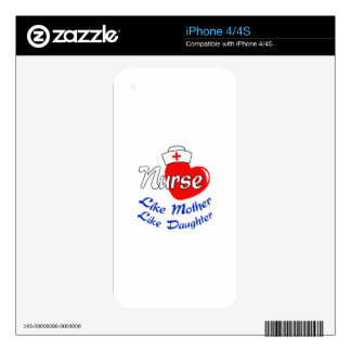 NURSE LIKE MOTHER iPhone 4 DECAL