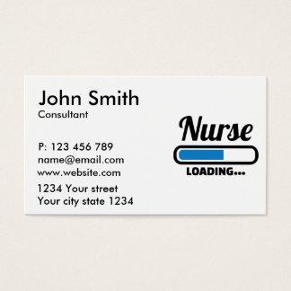Nurse loading business card