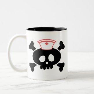 Nurse Lolly Skull Mug