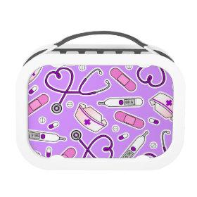 Nurse Love Pattern Purple Yubo Lunchbox