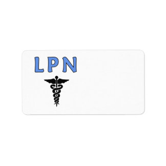 Nurse LPN Caduceus Label