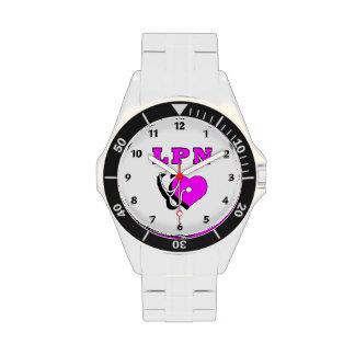 Nurse LPN Care Wrist Watches