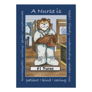 Nurse, Male in Office Poster