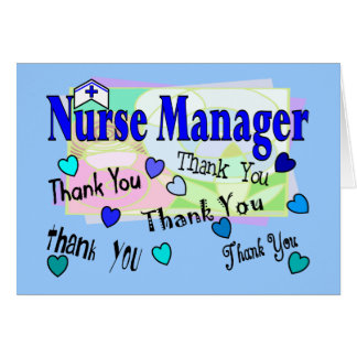 Nurse Manager THANK YOU Card