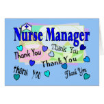 Nurse Manager THANK YOU Greeting Cards