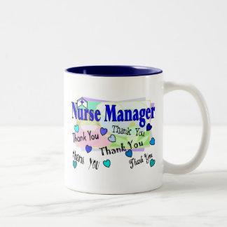 Nurse Manager THANK YOU Two-Tone Coffee Mug