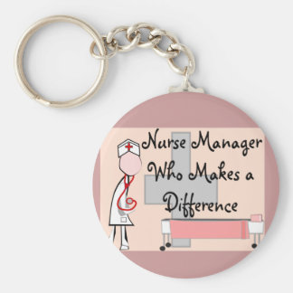 Nurse Manager Who Makes a Difference Gifts Basic Round Button Keychain