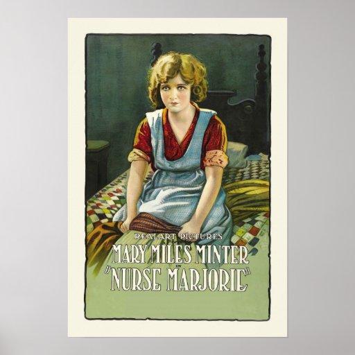 Nurse Marjorie Vintage Film Poster Print