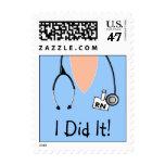 Nurse Medical Graduate Postage Scrub Top