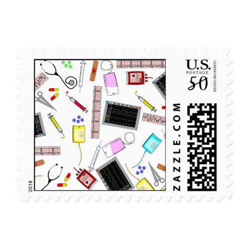 Nurse Medical Graduate Postage Stamps #9