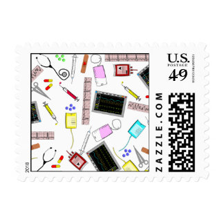 Nurse Medical Graduate Postage Stamps #9