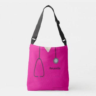 Nurse Medical Scrubs Hot Pink AOPMCB Crossbody Bag