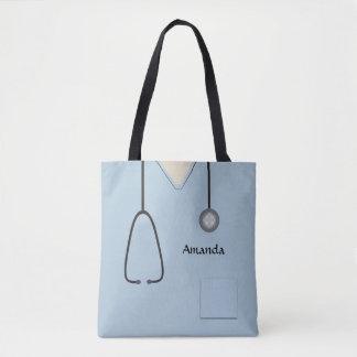 Nurse Medical Scrubs Light Blue AOPMT Tote Bag