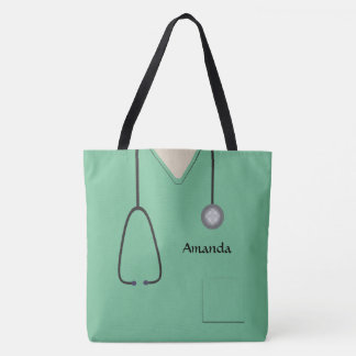 Nurse Medical Scrubs Light Green AOPLT Tote Bag