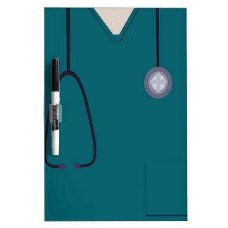 Nurse Medical Scrubs Teal Dry Erase Dry-Erase Board