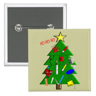Nurse/Medical Staff Christmas Cards and Gifts 2 Inch Square Button