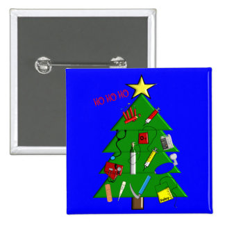 Nurse/Medical Staff Christmas Cards and Gifts Pinback Button