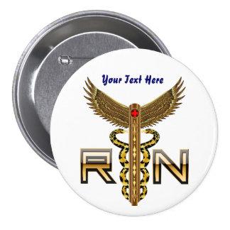 Nurse Men Women View about design below 3 Inch Round Button
