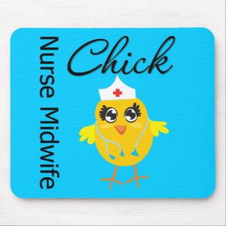 Nurse Midwife Chick v1 Mouse Pads