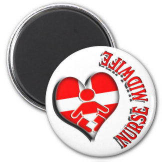 NURSE MIDWIFE HEART MEDICAL SYMBOL MAGNET
