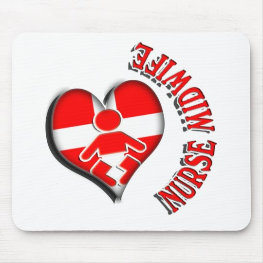 NURSE MIDWIFE HEART MEDICAL SYMBOL MOUSE PAD