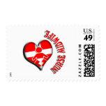 NURSE MIDWIFE HEART MEDICAL SYMBOL POSTAGE STAMPS