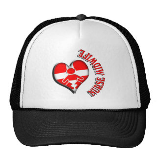 NURSE MIDWIFE HEART MEDICAL SYMBOL TRUCKER HAT