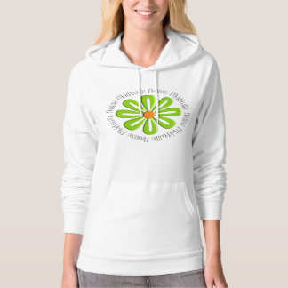 Nurse Midwife Hoodie Retro Green Flower