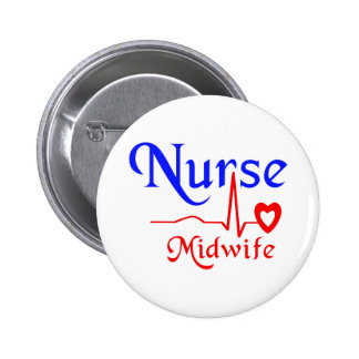 nurse midwife pinback button