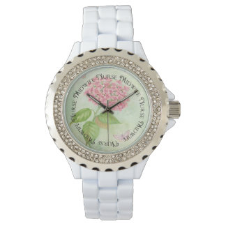 Nurse Midwife Watch Floral Design