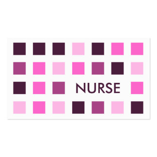 NURSE (mod squares) Double-Sided Standard Business Cards (Pack Of 100)