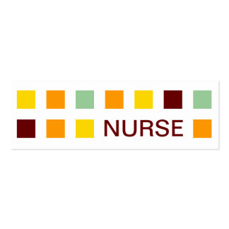 NURSE (mod squares) Double-Sided Mini Business Cards (Pack Of 20)