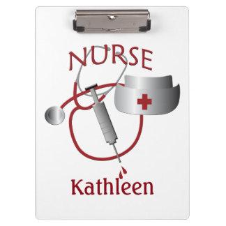 Nurse Name Nurses Cute Custom Clipboard