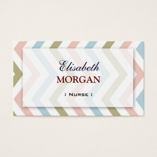 Nurse - Natural Graceful Chevron Business Card