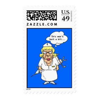nurse needle, This won't hurt a bit... Stamps