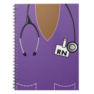 Nurse Notebook Scrub Top Design Purple