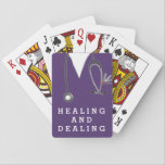 "nurse novelty gifts playing cards<br><div class=""desc"">Medical-themed design for nursing school graduate's healing hands.</div>"