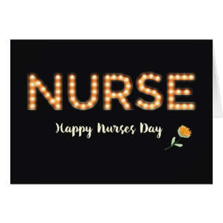 Nurse, Nurses Day, Marquee Light Bulb Letters, Ora Card