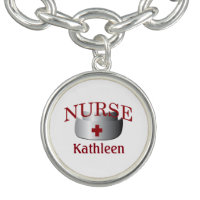 Nurse Nurses Name Custom Charm Bracelet