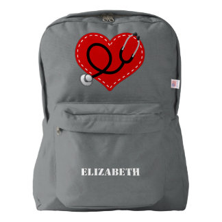 Nurse Personalized Nursing Gift Backpack American Apparel