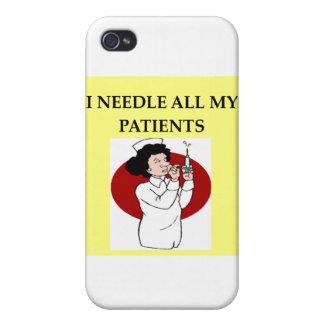 nurse nursing joke iPhone 4 cover