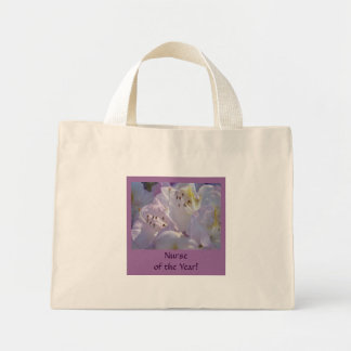 Nurse of the Year! gift Nursing Awards Flowers Mini Tote Bag