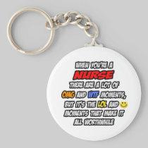 Nurse .. OMG WTF LOL Basic Round Button Keychain