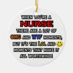 Nurse ... OMG WTF LOL Christmas Tree Ornament