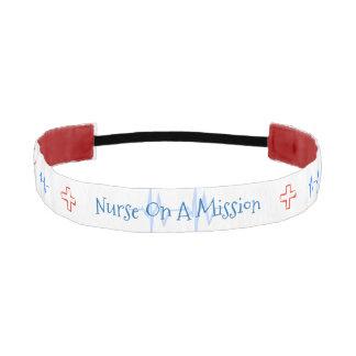 Nurse On A Mission Athletic Headband