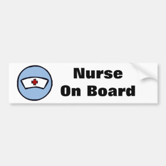 Nurse On Board Bumper Sticker